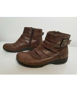 Clarks Brown Leather Zip Comfort Ankle Boots Womens Size 7 M Style 67211 - $29.99