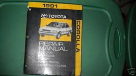 1991 Toyota Corolla Service Repair Shop Workshop Manual OEM Factory - $48.46