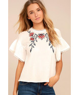Del Mar White Embroidered Top Moon River - XS Amazing summer top! - $50.00