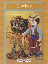 Cowboy, Fibre Craft Crochet Western Male Doll Clothes Pattern Booklet FCM330 - $4.95