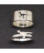 Velociraptor Dinosaur Promise Ring for Couples - $48.00