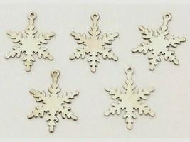 Silver Snowflake Charms, Set of 5