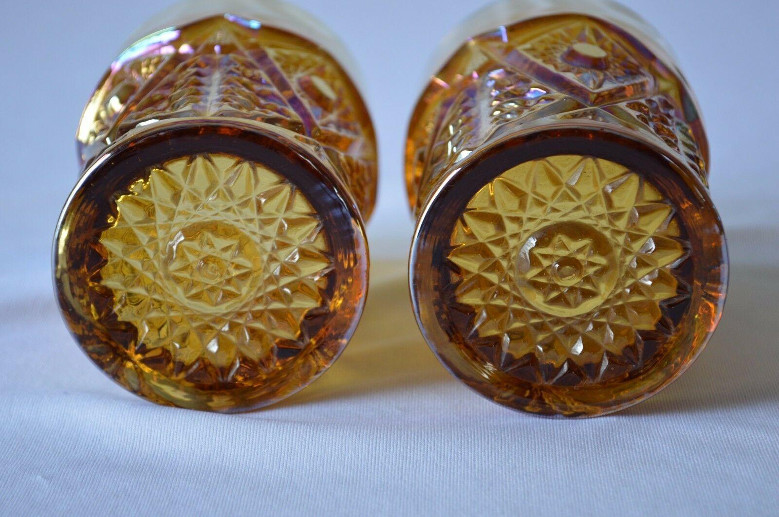 2 L E Smith Carnival Glass Valtec Tumblers image 7