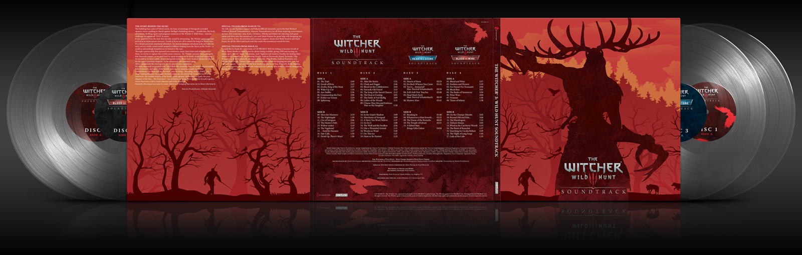 Witcher 3 4 lp clear v2