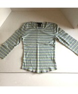 The Limited Womens Shirt Top Stripe 100% Cotton Size XS - $9.89