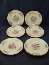 """8 Homer Laughlin Queen Esther 6 3/16"""" Bread Dessert Plates Pink Rose Go... - $29.95"""