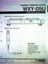 Yamaha WXY-05U Wireless System Original Service Manual, Schematics, Part... - $15.83