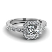 2.2 CT Diamond 925 Sterling Silver Platinum Plated Women's Engagement Ring - $49.09