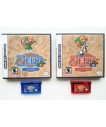 Legend of Zelda - Oracle of Seasons / Ages & Custom Case GBA Gameboy Adv... - $41.84