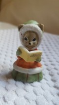 "Rare Christmas Mouse Carols Book Hat Dress Figure Xmas decoration 2"" VTG... - $15.83"