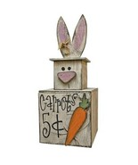Wooden BUNNY MINI STACKER Easter Spring Primitive Country Rustic Summer Box - $59.99