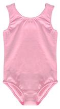 Dancina Pink Leotard Girls Tank Top Cotton and Spandex Unitard Activewear 8 - $15.54