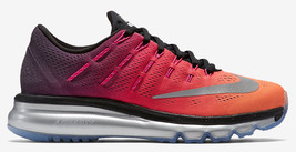 sports shoes 174ca 6cacd NIKE DONNA Air Max 2016 Prm Scarpe Numeri 12 Nero Argento Rosa Arancione.