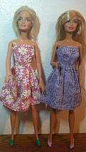 Mattel Barbie Dolls lot of two Summer Floral Outfit with shoes - $21.78