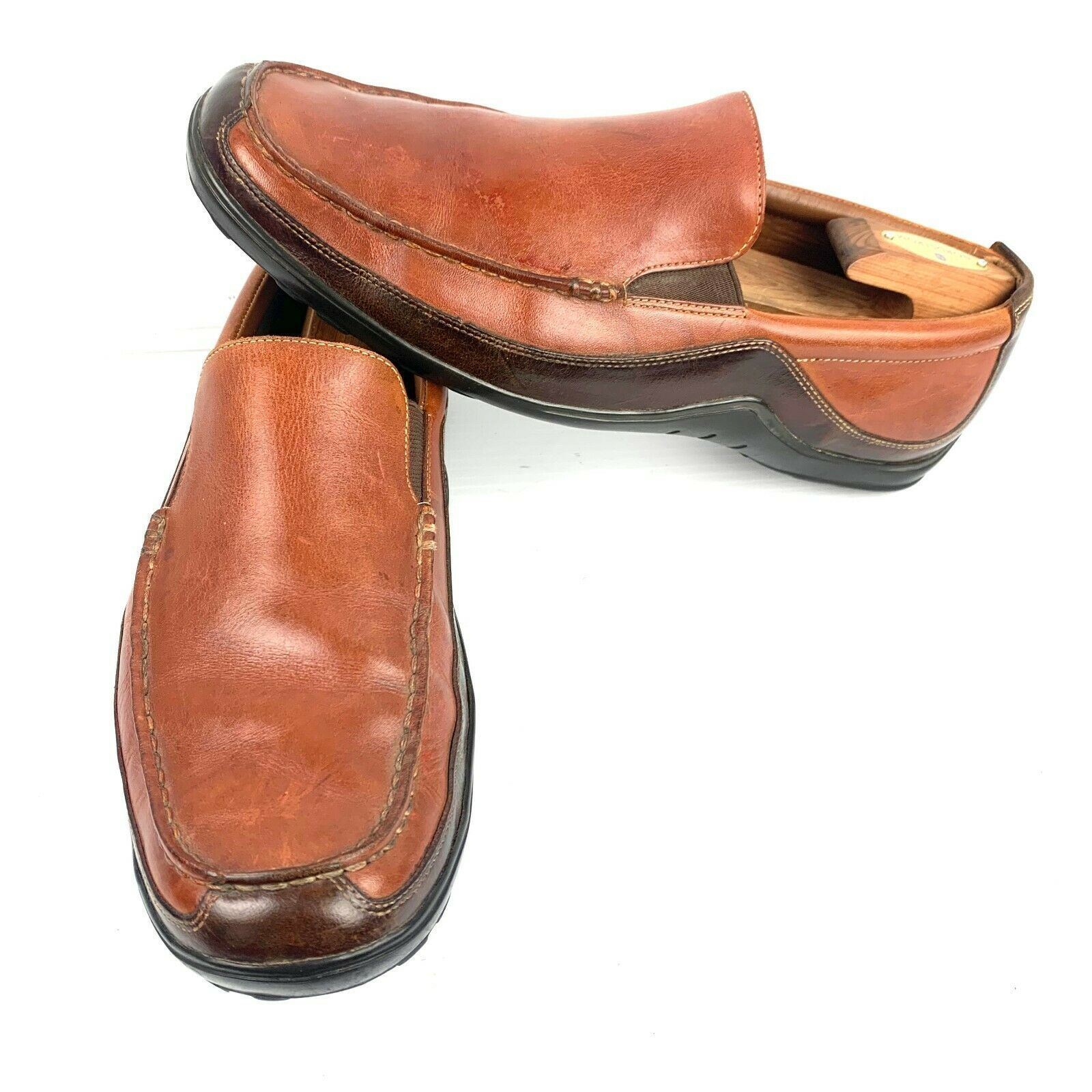 "Primary image for COLE HAAN ""Tucker"" Brown Leather Venetian Slip-On Loafer Size 11 Med"