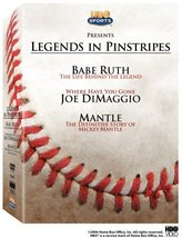 Legends in Pinstripes (Babe Ruth / Joe DiMaggio / Mickey Mantle) DVD - $5.95