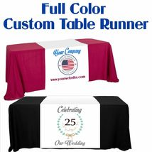 "Customize Table Runner with your logo or Design From 24""x72"" to  24""x90""  Great  image 5"
