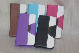 Lexury TPU Leather wallet case with strap & card slot For Samsung Galaxy... - $7.49