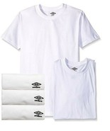 3 Pack White Crew Neck Tees UMBRO 100% Cotton Breathable T-Shirt Size S ... - $19.99+