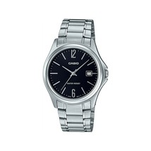 Casio MTP-1404D-1A Men's Dress Stainless Steel Black Dial 3-Hand Analog ... - $36.65