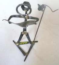 "Recycled Handmade Metal Iron, Nuts Bolts ""Music Man"" Sculpture Art Displ... - $55.99"