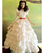 The Franklin Mint - Scarlett O'Hara in White Ruffles Doll Gone With the ... - $250.00