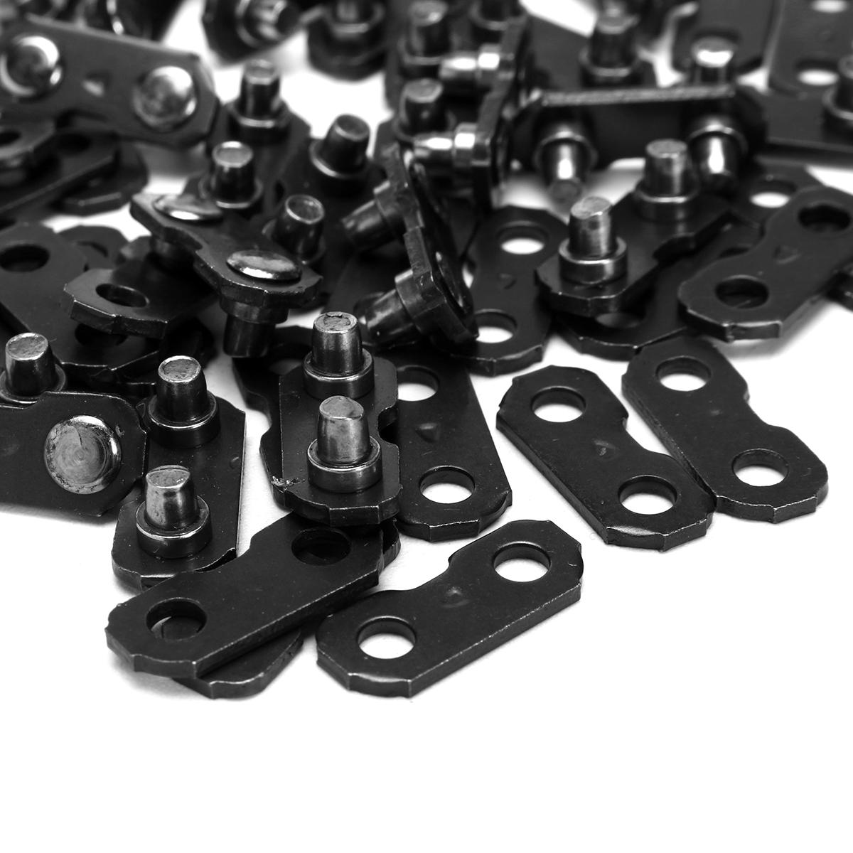 24pcs 3/8 Inch Chainsaw Chain Link Connectors F Oregon Type Repair Preset Straps