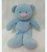 "9"" Russ Berrie Blue Baby Bear Rattle Thermal Ears Feet Plush Toy Vintage... - $24.99"