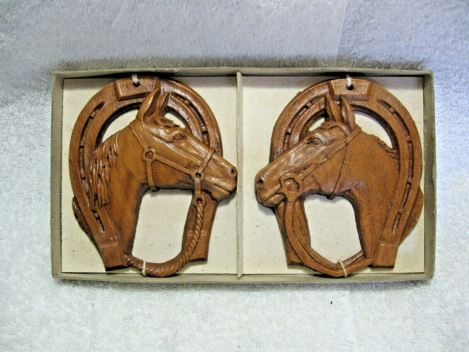 Primary image for Vintage 1944 Collectible HORSE HEADS-NOS In Original Packaging-Rare-Kentucky!!!