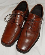 Rockport Natural Brown Leather Lace-Up Dress Oxford Shoes Men's 11 Medium  - $27.99