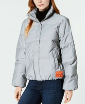 Calvin Klein Jeans Juniors Puffer Coat, Eu Reflective, Size XL, MSRP $298 - $118.79