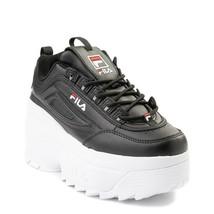 Femmes FILA Disruptor 2 Compensé Noir Blanc Athlétique Chaussure Neuf Pl... - $110.55