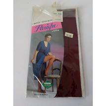 Vintage Parishe Red Burgundy Panty Stocking 1 Pair Made in Korea Pin Up ... - $12.86