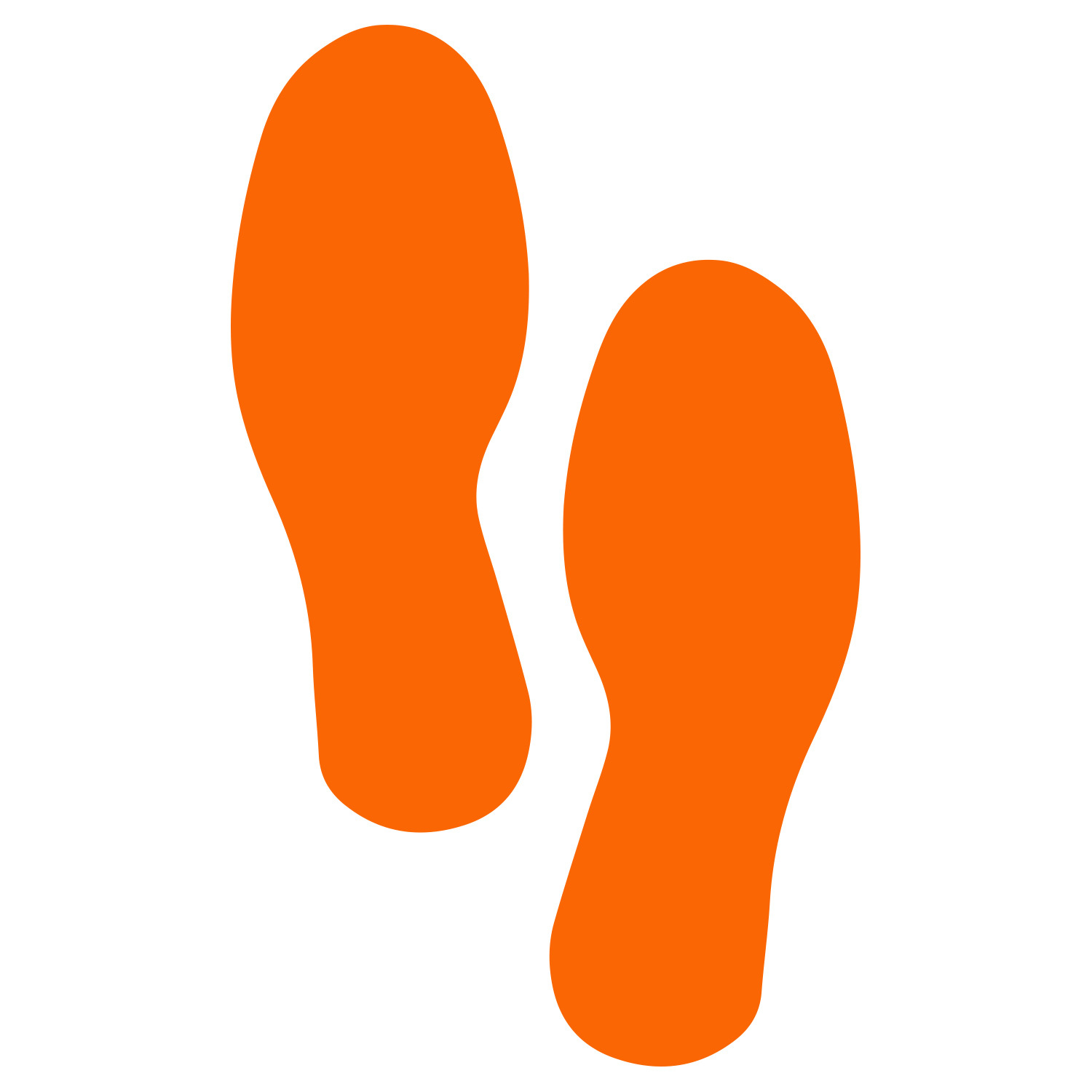 Primary image for LiteMark Medium Size Orange Removable Footprint Decals - Pack of 12 (6 Pairs)