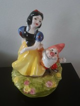 Vintage Disney Schmid Snow White Happy Music Box Someday My Prince Will ... - $39.55