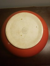 Vintage Universal Cambridge Pottery Oven Proof Red Bowl Made In Usa - $9.95