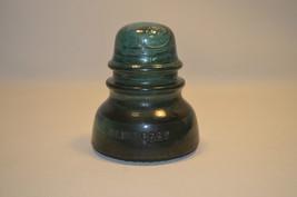 Antique Green Glass Insulator Hemingray No 40 - $6.37