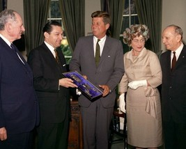 President John F. Kennedy with members of B'nai B'rith New 8x10 Photo - $6.61