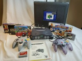 N64 Nintendo System Console Lot Bundle W/ 6 Games 2 Controller Tested Rare Case - $325.00