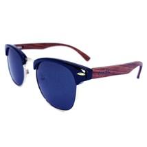 Real Walnut Wood Club Style Sunglasses, Polarized, Handcrafted, FDA Appr... - $33.99