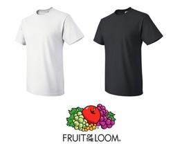 40 T-SHIRTS Blank 20 Black 20 White BULK LOT S-XL Wholesale Fruit of the Loom - $81.59