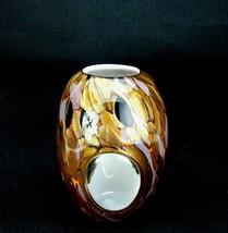Vintage Cased Copper Aventurine & Purple Black Orange Modernist Art Glas... - $150.00