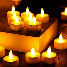 LED Flame-less Realistic Flickering Effect Tea Light Candles (Set of 12) - $12.73