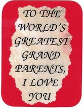 "World's Greatest Grandparents I Love You 3"" x 4"" Love Note Inspirational Sayings - $2.69"