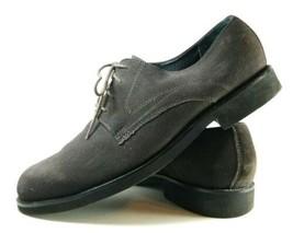 Bostonian Oxfords Extralight Men's Sz 12 W Dark Gray Suede Leather Shoes (tu20) - $23.99