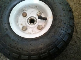 """Utility Wheels / Tires: 4.10/3.50-4 with 5/8"""" Bearings - 10"""" Pneumatic dirty image 2"""