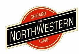 Chicago & Northwestern Railroad Sticker R4910 Railway Train Sign YOU CHOOSE SIZE - $1.45+