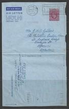 1957 British Air Letter, Paquebot Marking Houston Texas, Passenger Mail - $5.00