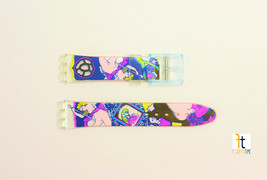 17mm Unisex Colorful Art Design Compatible with Swatch Watch Band Straps - $9.95