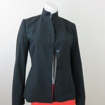Ralph Lauren Black Label Wool Blazer Jacket Size 6 Hidden Button Mandari... - $94.00